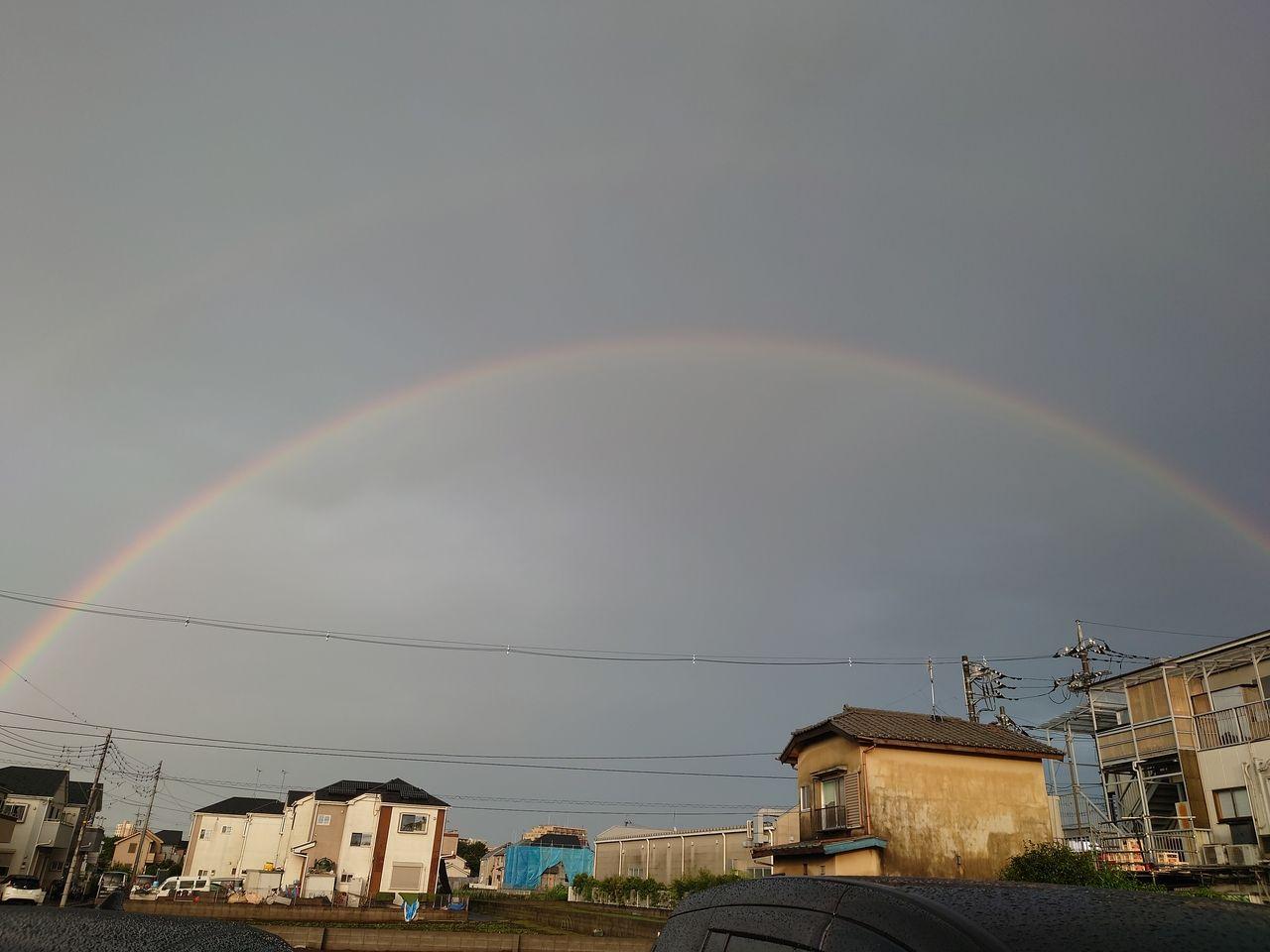 虹の橋がかかりました。