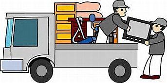 荷物を運ぶ運送業者