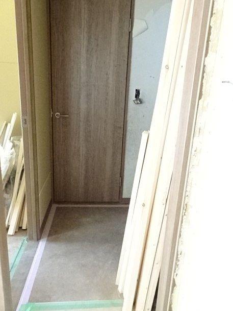 洗面室の入り口