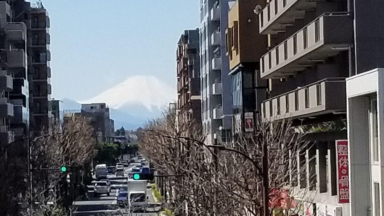 【関東の富士見百景】東久留米駅から見える富士山が有名ですが