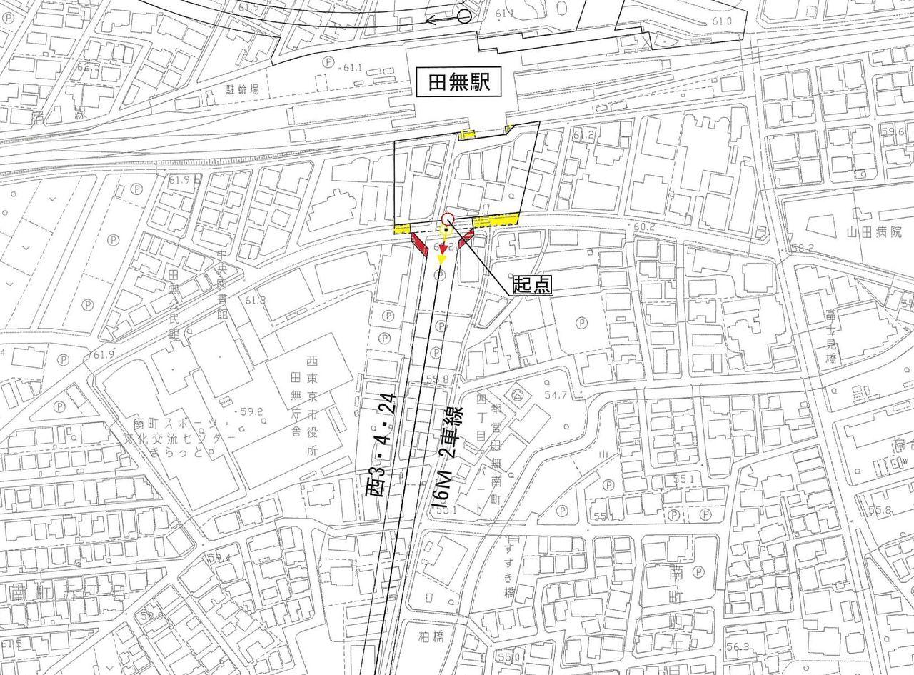 道路計画の計画図