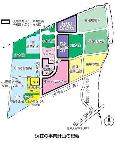 東久留米市の地区開発計画図