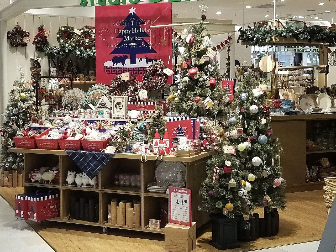 雑貨店のクリスマス用品